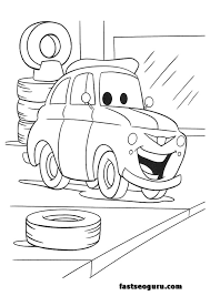 cars 2 printable coloring pages cars 2 luigi printable coloring