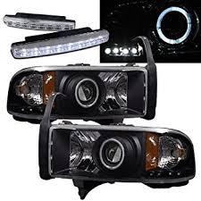 2001 dodge ram headlights amazon com 1994 2001 dodge ram 1500 halo headlights projector 8