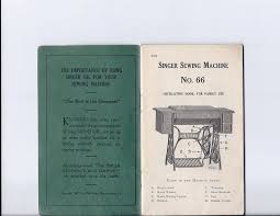 1916 singer u0027redeye 66 u0027 sewing machine instruction manual early