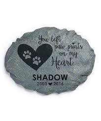 personalized planet paw prints on my heart personalized garden