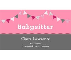 printable babysitting business cards google search babysitting