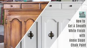 how do i get a smooth finish on kitchen cabinets how to get a smooth white finish with sloan chalk paint