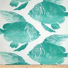 p kaufmann indoor outdoor fish turquoise discount designer