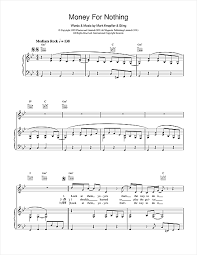 dire straits sultans of swing tab money for nothing sheet by dire straits piano vocal