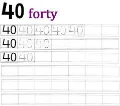worksheet on number 40 preschool number worksheets number 40