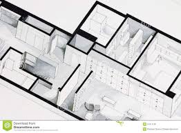 illustration of deep elegant floor plan design apartment stock