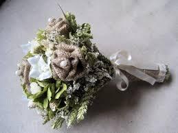 Shabby Chic Wedding Bouquets by Wedding Country Bouquet Shabby Chic Burlap Roses Wedding Bouquet