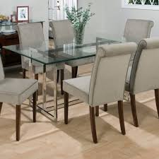 Lovable Glass Top Kitchen Table Round Glass Dining Table Set For - Glass top tables for kitchen