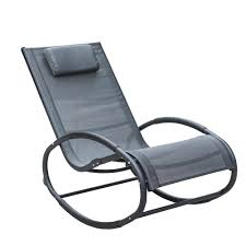 Aluminum Folding Rocker Lawn Chair by Orbital Zero Gravity Folding Rocking Patio Lounge Chair With