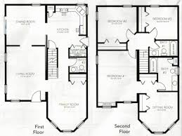 2 story floor plan lovely free 2 story 4 bedroom house plans house plan