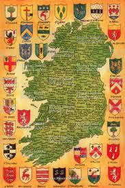 Map Ireland Map Of Ireland Surnames U0026 Origins Around Ireland
