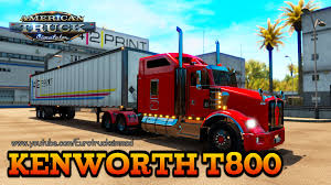 kenworth dealer american truck simulator kenworth t800 youtube