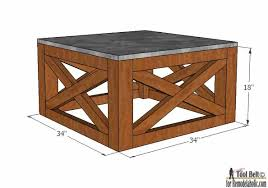 Plans For Wooden Coffee Table by Remodelaholic Build An Outdoor Coffee Table With X Base