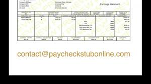 consecutive check stub youtube