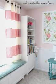Nursery Blinds And Curtains by Coral Pink Blackouts Particular Bright Butterflies Eyelet Dunelm