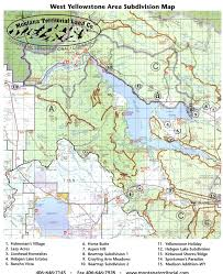 Montana Map by Area Maps Of West Yellowstone Mt Mtlc