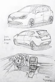 cars drawings car drawing 160113 2013 renault clio prisma on paper kim j h