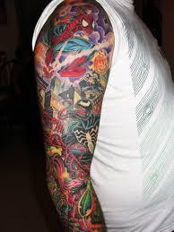 color arm sleeve tattoos arm sleeve
