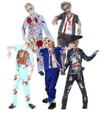 zombie blood boys halloween fancy dress scary undead gory kids