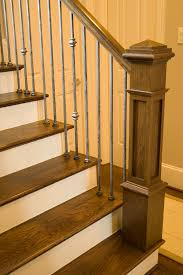 Wooden Banisters And Handrails The New Craftsman Style Staircase