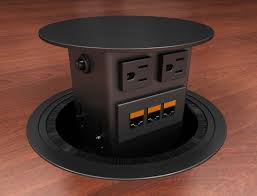 conference table pop up eca concept round dual sided round pop up table box conference room av