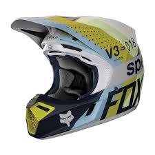 Motorcycle Helmet Lights Dirtbikebitz 2018 Fox V3 Draftr Mx Motocross Helmet Light Grey