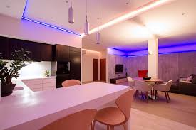 a very short expression in neon house lighting makes home more