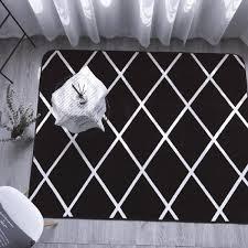 Tapis Salon Noir Et Blanc by Tapis De Salon Noir Blanc Achat Vente Tapis De Salon Noir