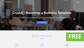 templates for video website crystal free bootstrap video background website template