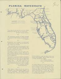 Florida Intracoastal Waterway Map by Florida Memory Map Of Florida Waterways And Proposed Canals Ca