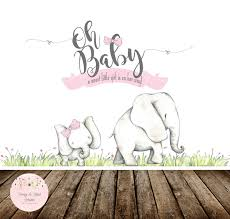 oh baby baby shower backdrop oh baby elephant baby shower