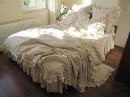 Shabby Chic White Comforter Bed Linen Extraordinary Beige Ruffle Comforter White Ruffle