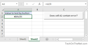 ms excel how to use the iserror function ws vba
