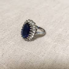 blue crystal rings images Not sure jewelry sapphire blue crystal ring poshmark jpg