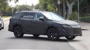 lexus motor yamaha lexus rx with three rows of seats spied under development