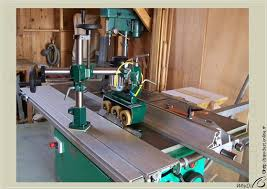 table saw power feeder sawdust outfeed power unit on table saw