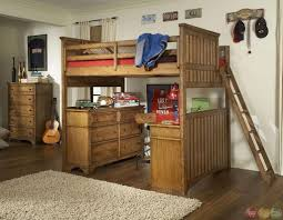 bedroom cheap wooden full size loft bed with desk underneath