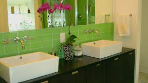 Glass Tile Bathroom by Green Glass Subway Tile In Bamboo Modwalls Lush 3x6 Modern Tile