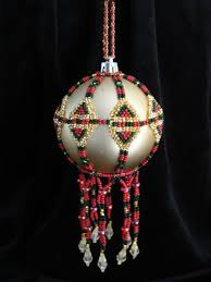 453 best beaded ornaments images on beaded