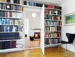 interior design agreeable full wall bookshelves next to living