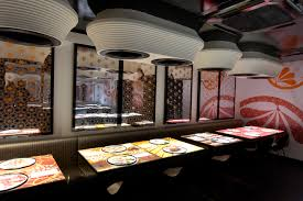 high tech restaurant design inamo london by blacksheep home