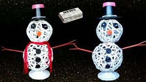 how to make snowman from newspaper diy snowman christmas craft