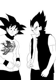 goku and vegeta sketch by washi sama on deviantart
