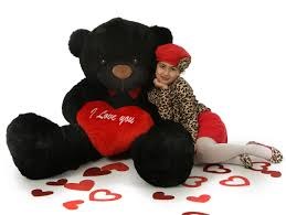 valentines big teddy 5ft black s day teddy with plush i you