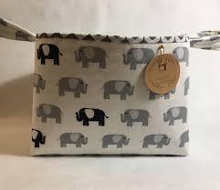 Baby Storage Elephant Fabric Basket Storage Nursery Organizer Baby