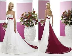 wedding dress colors white and merlot wedding dresses with color this is available in
