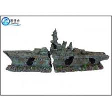 ship model poly resin ornaments cool fish tank decorations for