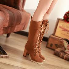 ladies lace up biker boots ladies knee high chunky platform womens suede combat lace up boots