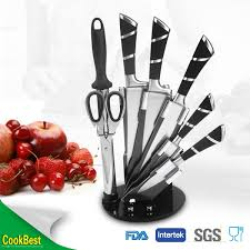 high quality kitchen knife set swiss line knife with arylic stand