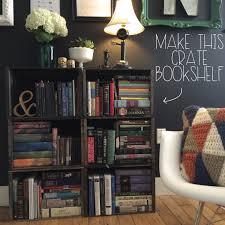 Crate Bookcase Decorations Creative Diy White Wooden Wall Shelves Ideas Loversiq